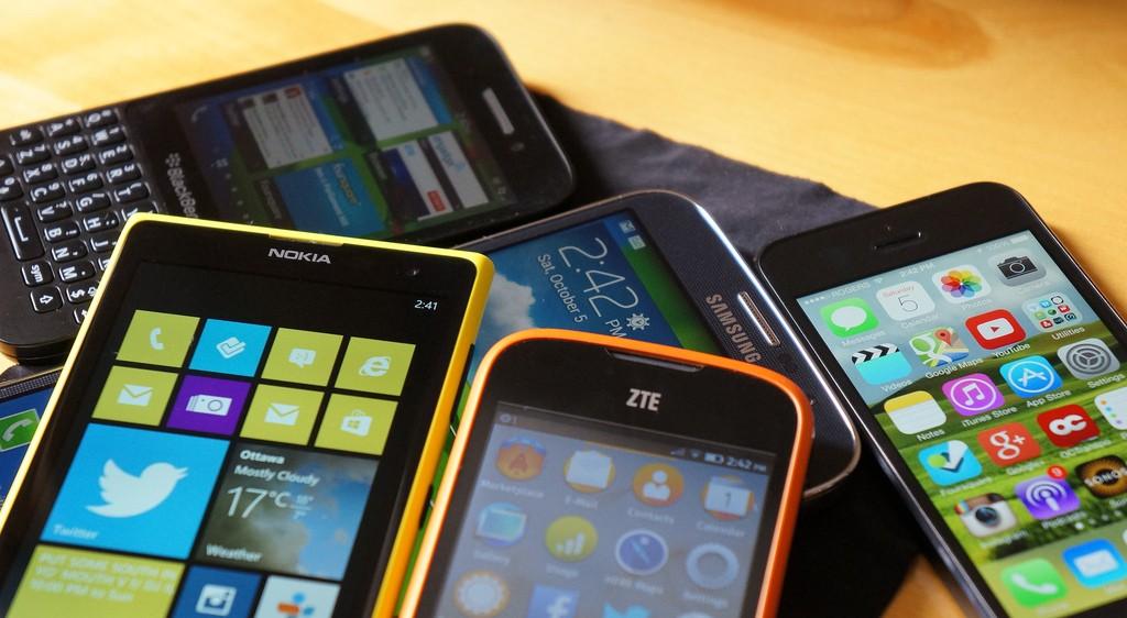 various-smartphones